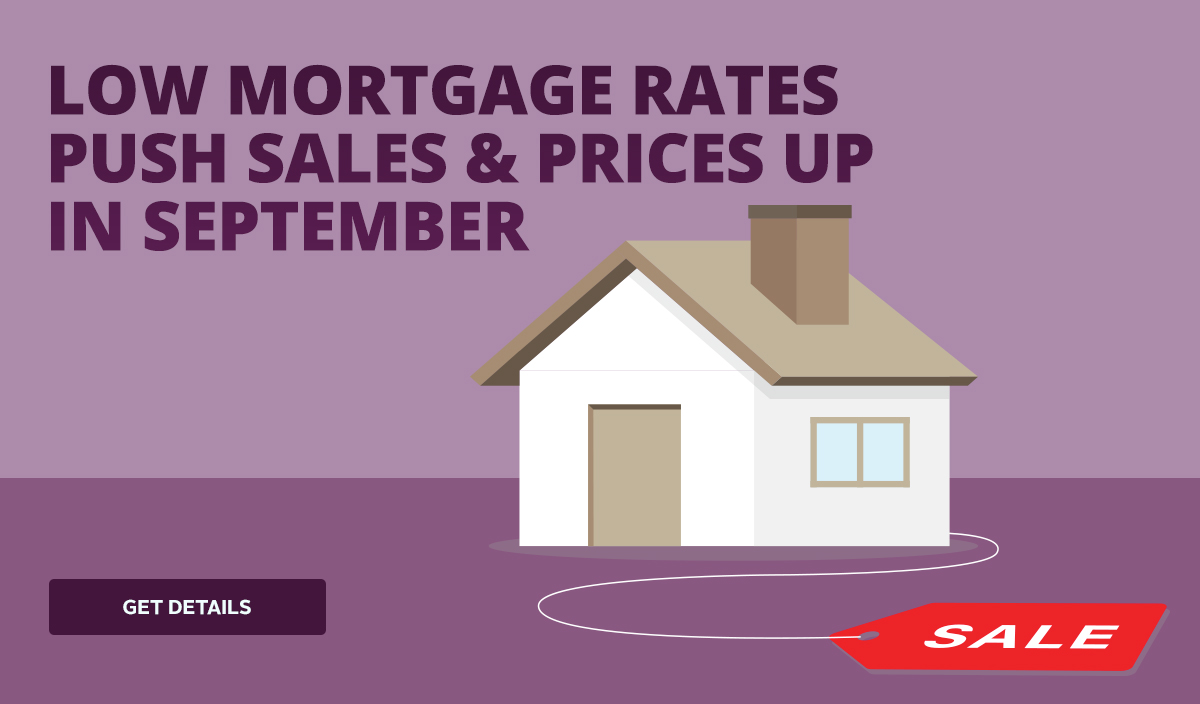 Low mortgage rates push sales & prices up in September
