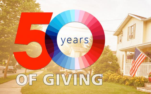 US residential cottage house PAC 50 years of giving