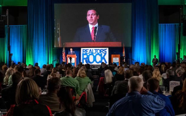 Governor Ron DeSantis speaks to Realtors during GARD