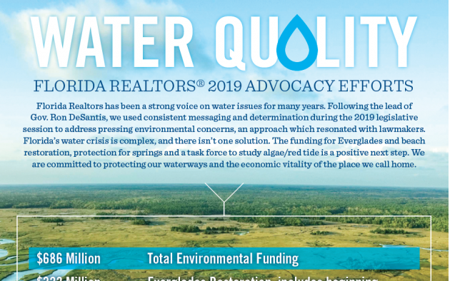 Florida Realtors 2019 Water Quality Advocacy Efforts infographic
