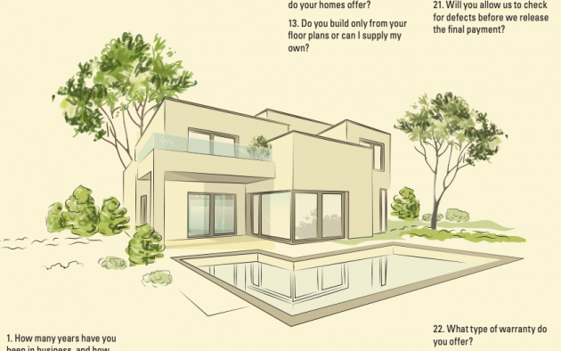 23 questions to ask your homebuilder infographic