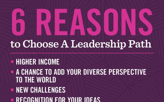 6 Reasons to Choose a Leadership Path infographic
