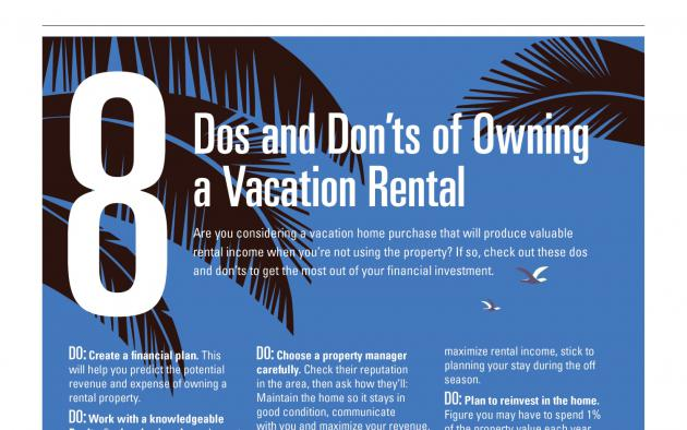 Vacation rental infographic
