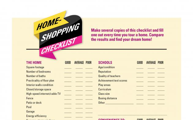 Home Buying Checklist infographic