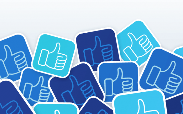 Facebook groups image using thumbs up icons