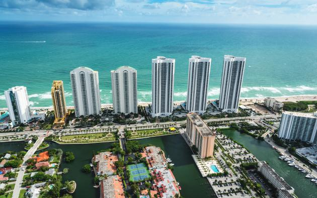 Fort Lauderdale condos aerial view
