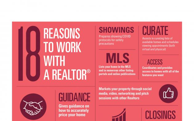 18 reasons to work with a Realtor infographic