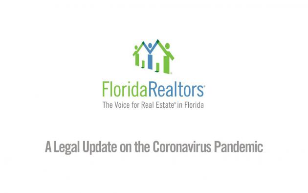 Florida Realtors Legal Update on the Coronavirus (March 17, 2020)