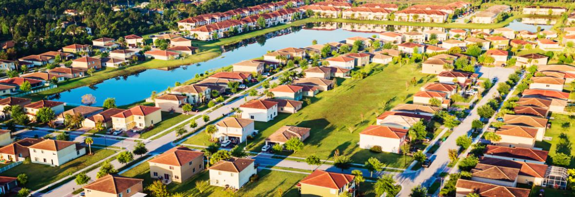 rows of florida houses