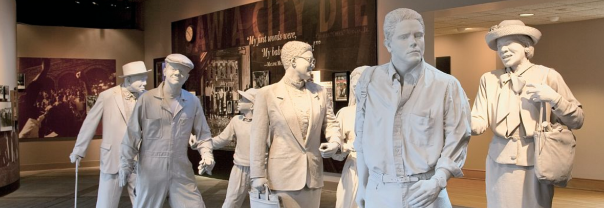 Statues representing civil rights