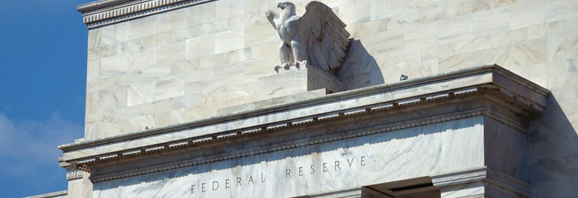 Front of the U.S. federal Reserve building