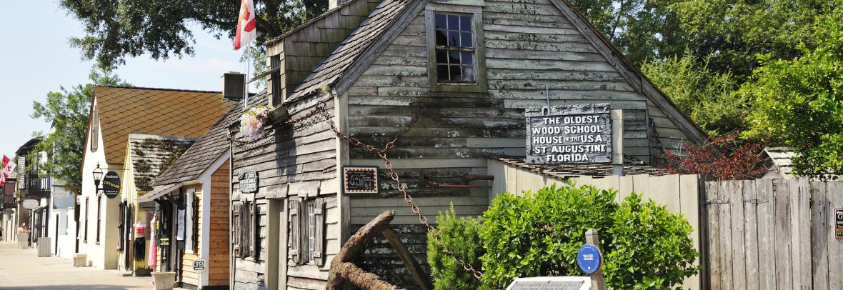 St. Augustine and oldest schoolhouse in the U.S.