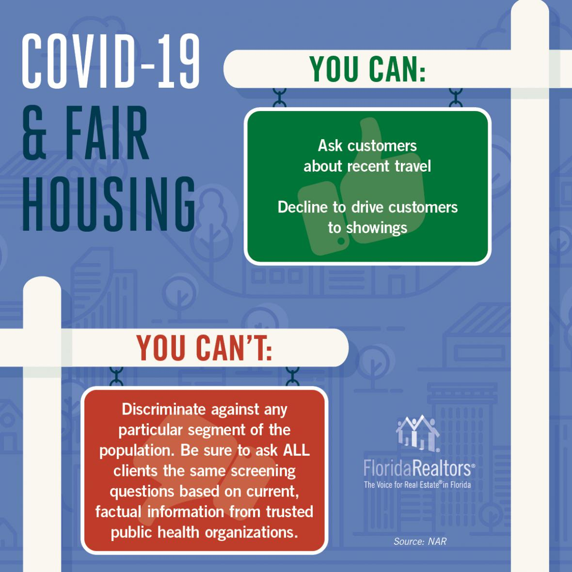 covid-19 and fair housing infographic