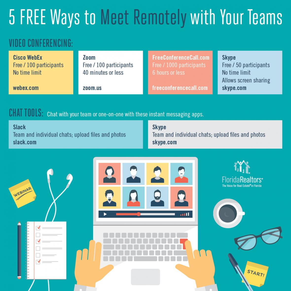 5 Free Ways to Meet Remotely with Your Teams