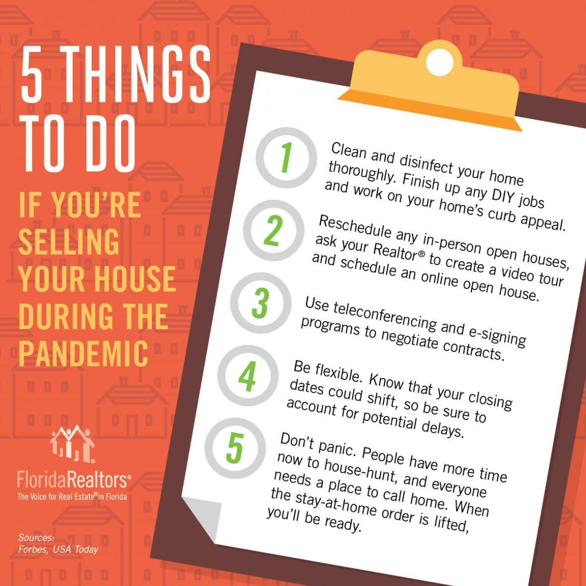 5 Things to Do If you're selling your house during the pandemic infographic