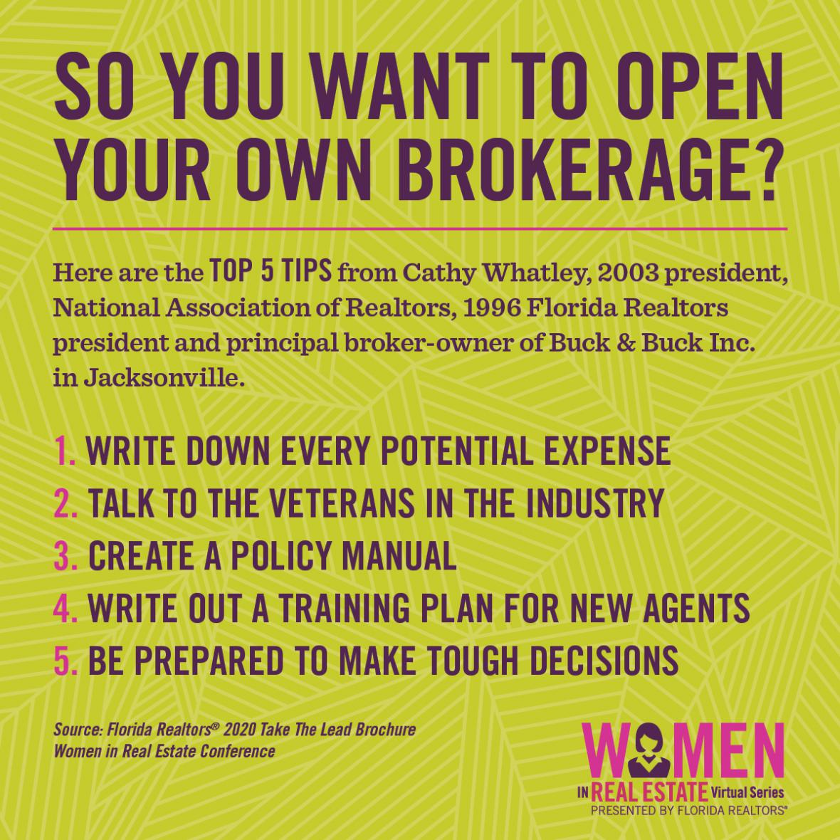 So You Want to Open Your Own Brokerage infographic