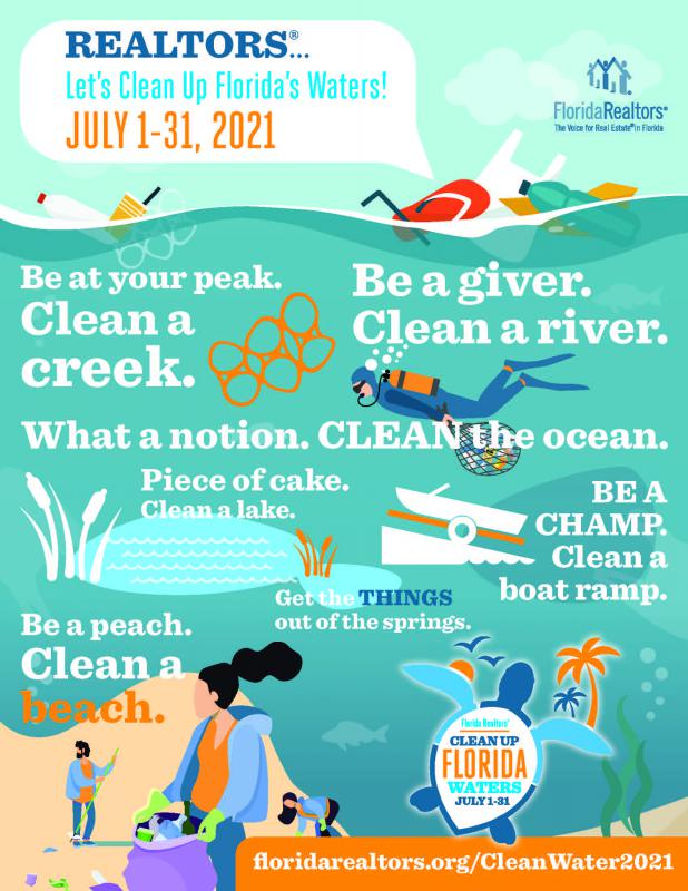 2021 clean up florida waters promotional flyer