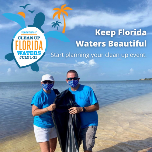 Keep Florida Waters Beautiful - start planning your cleanup event with logo
